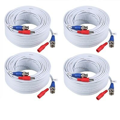 AU12.99 • Buy 25/50/60/100/150ft Security Camera Video DC Power Cable BNC DVR Extension Cord