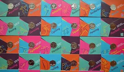 £28 • Buy 2012 London Olympic Games 50p Sports Collection Uncirculated Football, Judo