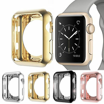 $ CDN2.59 • Buy For Apple Watch Series 4/3 TPU Bumper IWatch Screen Protector Case Cover 38/44MM