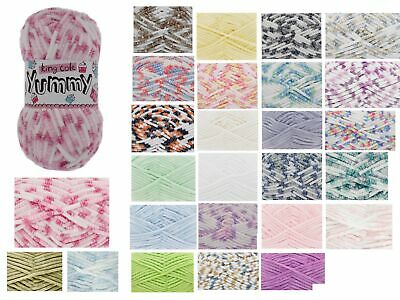 King Cole Yummy 100g Super Soft Knitting Yarn Chunky Baby Wool - All 34 Colours • 4.25£