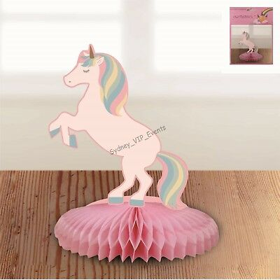 AU5.25 • Buy Small Unicorn Honeycomb Table Decoration Centrepiece Birthday Party Girl Fantasy