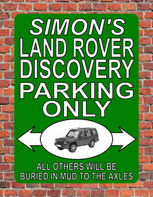 Personalised LAND ROVER DISCOVERY PARKING ONLY Fun SIGN NOTICE Landrover Plaque • 9.99£