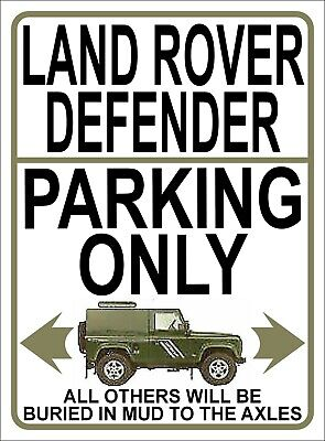 LAND ROVER DEFENDER PARKING ONLY Fun METAL SIGN / NOTICE Landrover Gift Plaque • 9.99£