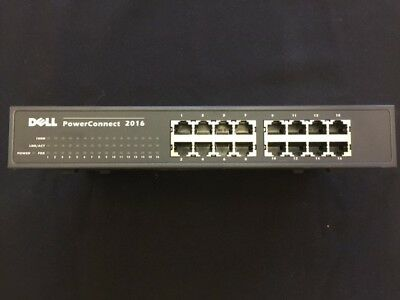 $25 • Buy Dell PowerConnect 2016 Ethernet Switch 16-Port Business Network Connectivity