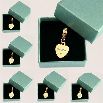 Engraved Rose Gold Charm For Mum, Nanny, Sister, Cousin Etc Can Be Personalised! • 14.99£