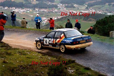 Francois Delecour Ford Sierra RS Cosworth 4x4 Portugal Rally 1991 Photograph 1 • 4£