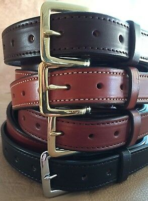 $39.99 • Buy 1-1/2 Plain Stitched Real Genuine Leather Casual Dress Belt Strap*Amish USA Made