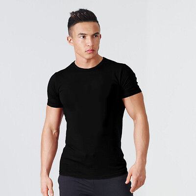 $14 • Buy Men's Gym Bodybuilding Fitness Cotton Clothing Muscle Muscle T-shirt Tee Vest