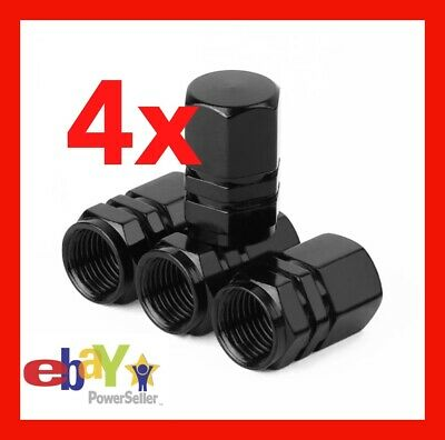 AU3.75 • Buy 4 X Tyre Cap Black Wheel Tyre Valve Air Dust Screw Caps Car Truck Bike