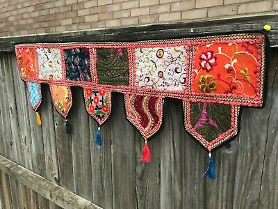 Indian Embroidered Toran Door Valances Wall Hanging Home Decor Patchwork Sequin • 24.99£