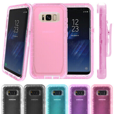$ CDN8.33 • Buy Samsung Galaxy S8 S9 S10 S20 Note 8 9 10 Clear Defender Cover Case + Belt Clip