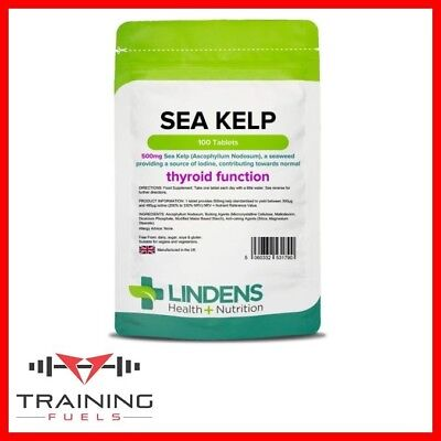 View Details Lindens Sea Kelp 500mg 100 Tablets Thyroid Healthy Skin And Hair • 6.69£