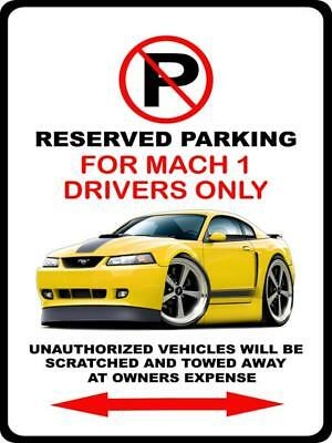 $19 • Buy 2003 2004 Mach 1 Mustang Car-toon Parking Sign Wall Art Graphic Sticker