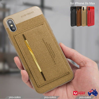 AU10.99 • Buy EASYBEAR Luxury Kickstand Wallet Card Holder Case Cover For IPhone SE 11 Pro Max