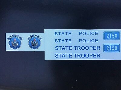$18.95 • Buy 1/18 Maine State Police Decals Ford Crown Vic Explorer Utility Charger Trooper