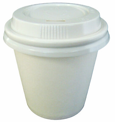 AU39.95 • Buy White 4oz Single Wall X 250 Sets Coffee Cups And Lids 118ml Paper Disposable