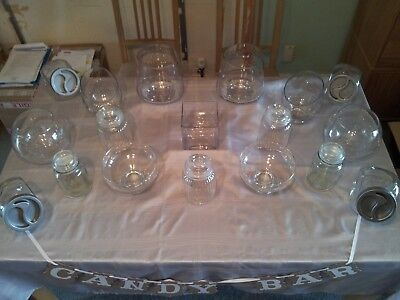 £60 • Buy Superb Selection Of Glass Jars And Scoops For Use As A Wedding/Candy Buffet