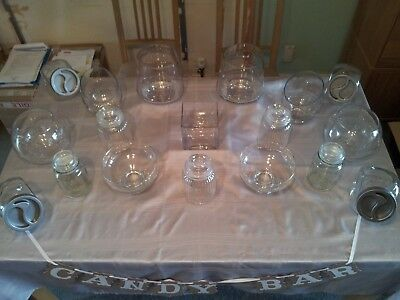 Superb Selection Of Glass Jars And Scoops For Use As A Wedding/Candy Buffet • 60£