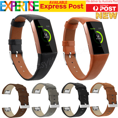 AU13.29 • Buy Leather Bands Replacement Wristband Watch Strap Bracelet For Fitbit Charge 2 OZ