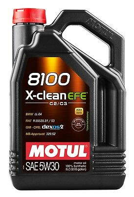 $ CDN96.99 • Buy Motul 8100 X-clean Efe 5w-30 100% Synthetic Engine Oil 5l