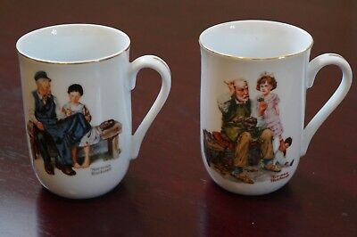 $ CDN12.67 • Buy Norman Rockwell Mug's  The Cobbler & The Lighthouse Keepers Daughter  1982 Set