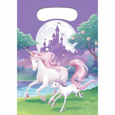 AU3.95 • Buy Unicorn Party Fantasy Loot Bags Birthday Girls Lolly Treat Favour Gift Pack Of 8