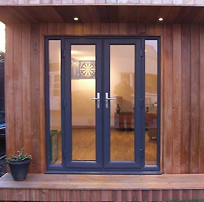 £691.80 • Buy Grey French Patio Door / HIGH QUALITY / Fast UK Delivery (#104)