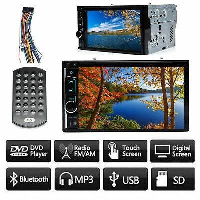 $127.69 • Buy 6.2  Car Stereo 2 Din Touch Screen DVD CD Player Bluetooth For GMC Sierra 1500