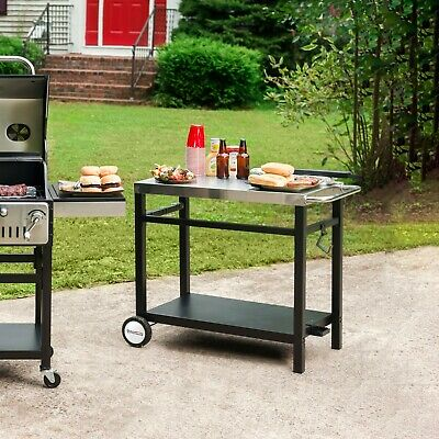 $75.99 • Buy Royal Gourmet BBQ Work Table Outdoor Kitchen Prep Cart Stainless Steel