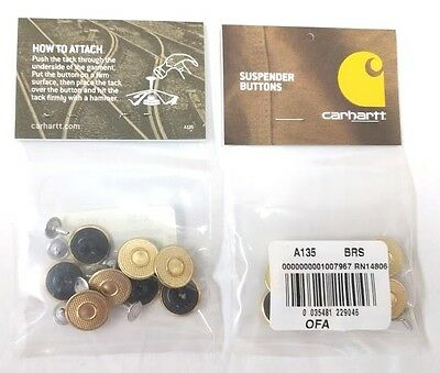 $6.49 • Buy Carhartt Replacement Suspender Buttons 8pc Per Pkg [CA#1-135]  Free Ship In US