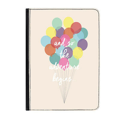 AU46.79 • Buy The Adventure Begins Quote Balloons Classic Universal 7  Leather Flip Case Cover