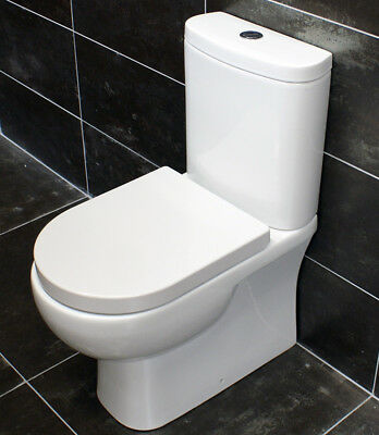 £184.99 • Buy Rak Tonique Open Or Closed Back Close Coupled Toilet Compact Comfort Height