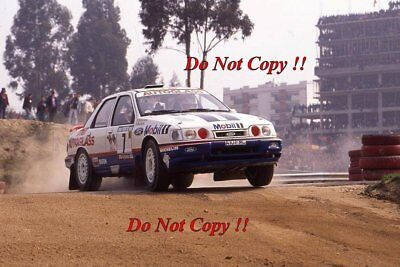 Miki Biasion Ford Sierra RS Cosworth 4x4 Portugal Rally 1992 Photograph 1 • 4£