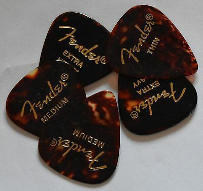 AU4.40 • Buy Fender Guitar Picks Shell 351  5 Picks Thin,Medium, Or Heavy