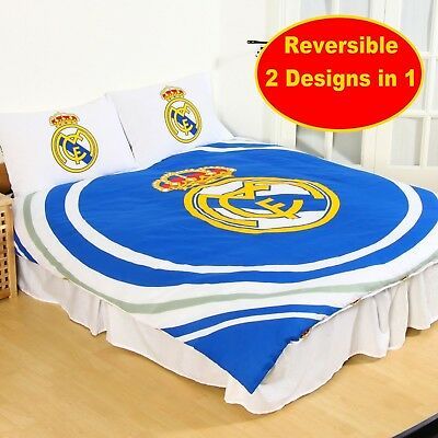 Official Real Madrid Football Club Double Duvet Quilt Cover Set Boys Kids Fans • 14.95£