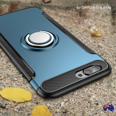 AU9.99 • Buy NEW Ring Stand Slim Armor Shockproof Rubber Case Cover For OPPO R9s R11 R11s Plu