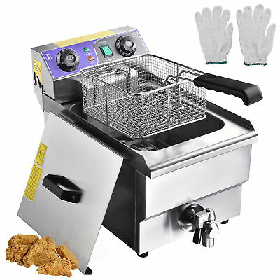 £119.90 • Buy 10L Electric Deep Fryer Fat Chip Commercial Restaurant Stainless Steel W/ Timer