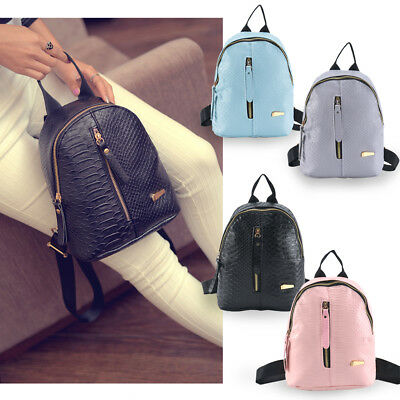 Girl Mini Backpack PU Woman Leather Shoulder School Rucksack Ladies Travel Bags • 5.29£