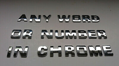 £0.99 • Buy 3D CHROME LETTERS OR NUMBERS SPELLING  ANY NAME, A-Z, 0-9, @, &, Self Adhesive.