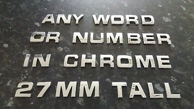 £0.99 • Buy 3D CHROME LETTERS OR NUMBERS SPELLING  ANY NAME,  Self Adhesive.