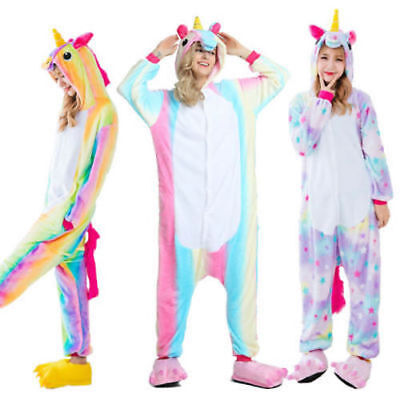 AU28.40 • Buy Onesie00 Adult Pikachu Pokemon Go Unicorn Costume Fleece Pyjamas Bodysuit