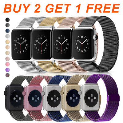 $ CDN18.32 • Buy For Apple Watch Series 5 4 3 2 1 Magnetic Milanese Loop Stainless Steel Band 89A