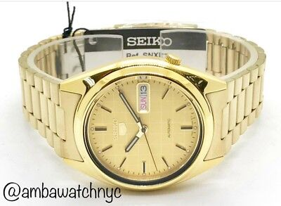 $ CDN149.88 • Buy Seiko SNXL72 Gold Tone Automatic WR Day Date Wrist Watch For Men