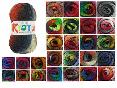 King Cole Riot DK Multi Coloured Knitting Yarn - 100g Acrylic Wool Blend • 3.19£