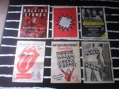 £1.99 • Buy ROLLING STONES - ORIGINAL ADVERT SMALL POSTER Mixed Emotions LIVE Voodoo Lounge