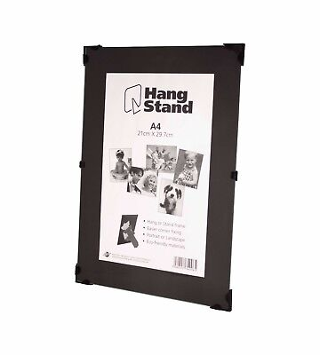 £4.95 • Buy Clip Frame Picture Photo Frames  Frameless  Fitted With Glass And Stand A4 Size