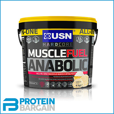 USN Muscle Fuel Anabolic All In One 4kg & 5.3kg (Variety) 50g Of Protein Matrix • 45.95£