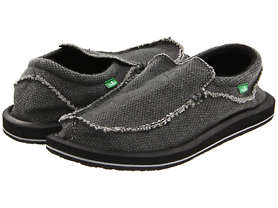 Men Sanuk Chiba Sidewalk Surfer Slip On Shoe SMF1047 Black 100% Original New • 41.45£