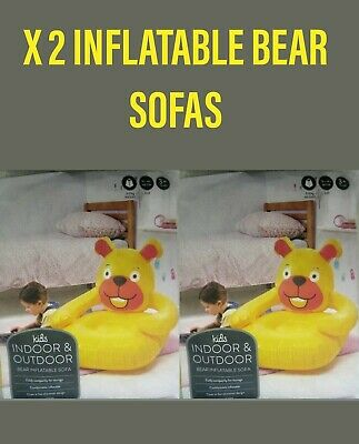 £9.99 • Buy X 2 Inflatable Bear Kids Sofa For Indoor/Outdoor *New & Sealed*