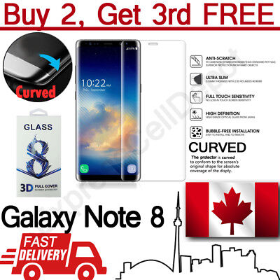 $ CDN6.99 • Buy Full Cover Curved Tempered Glass Screen Protector For Samsung Galaxy Note 8